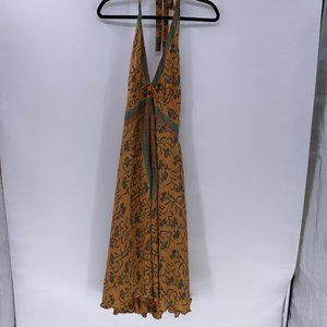 Dharma imports silk blend dress maxi hand made NWT